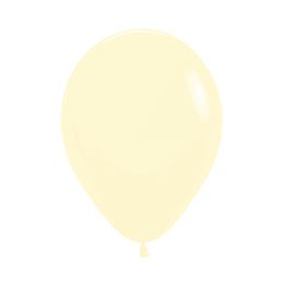 Globo Pastel Mate Amarillo x 12 unidades