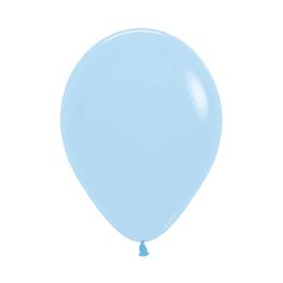 Globo Pastel Mate Azul x 12 unidades