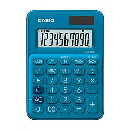 Calculadora Casio hogar X 10 digitos azul me