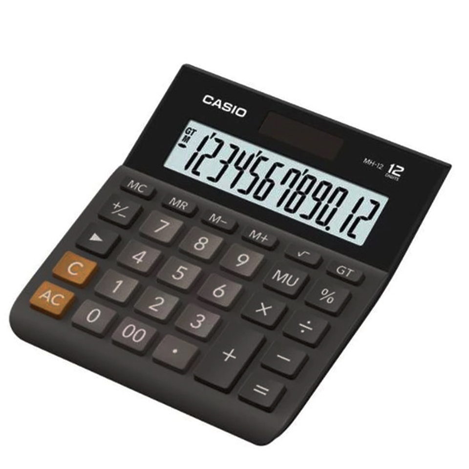 Calculadora Casio Para Oficina MH-12-BK