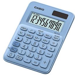 Calculadora Casio hogar  x 10 digitos Azul cl