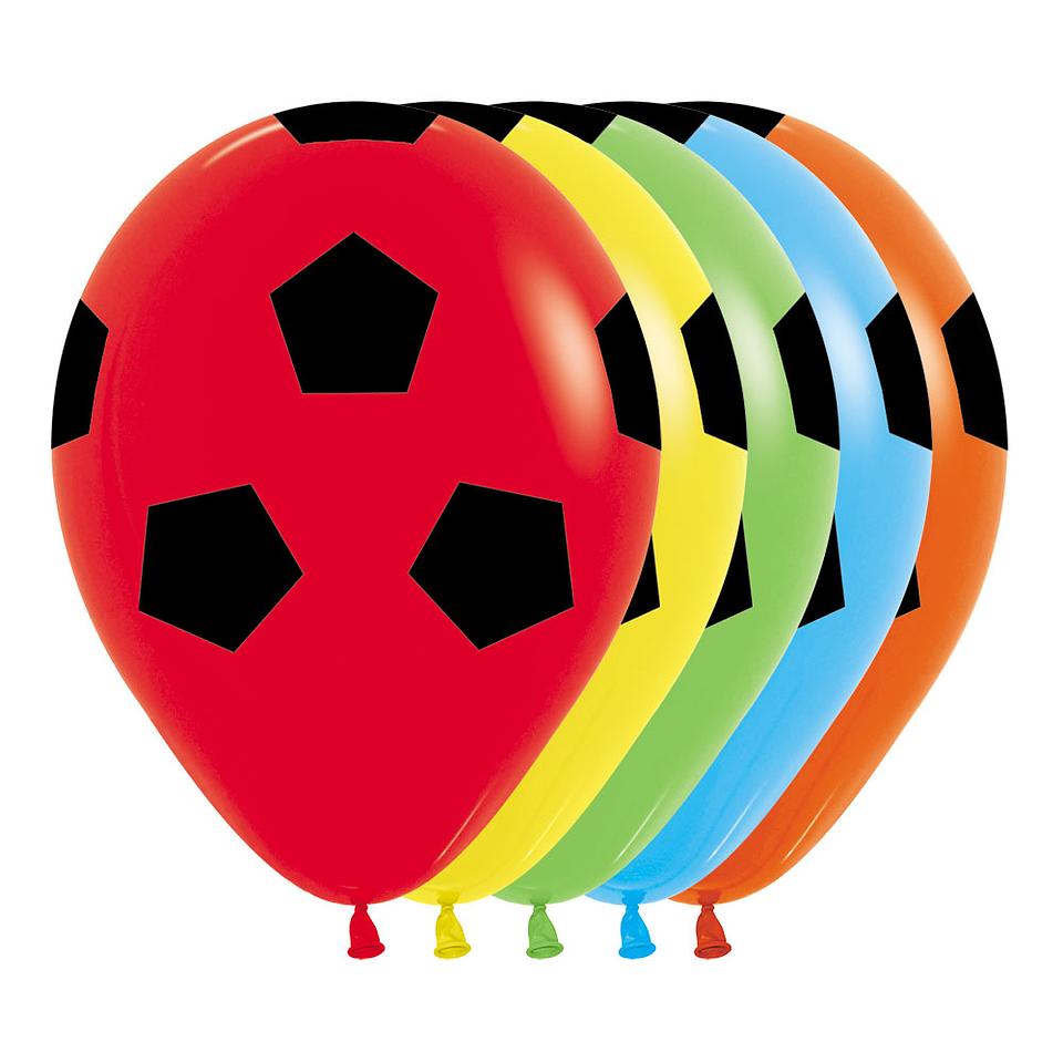 Globo R-12 Infinity Balon Futbol Fashion Surtido X 12 unidades