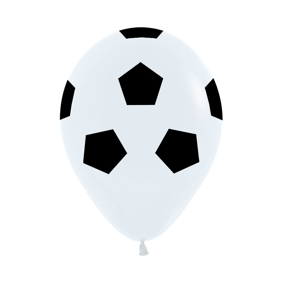 Globo R-12 Infinity Balon Futbol Fashion Blanco X 12 unidades