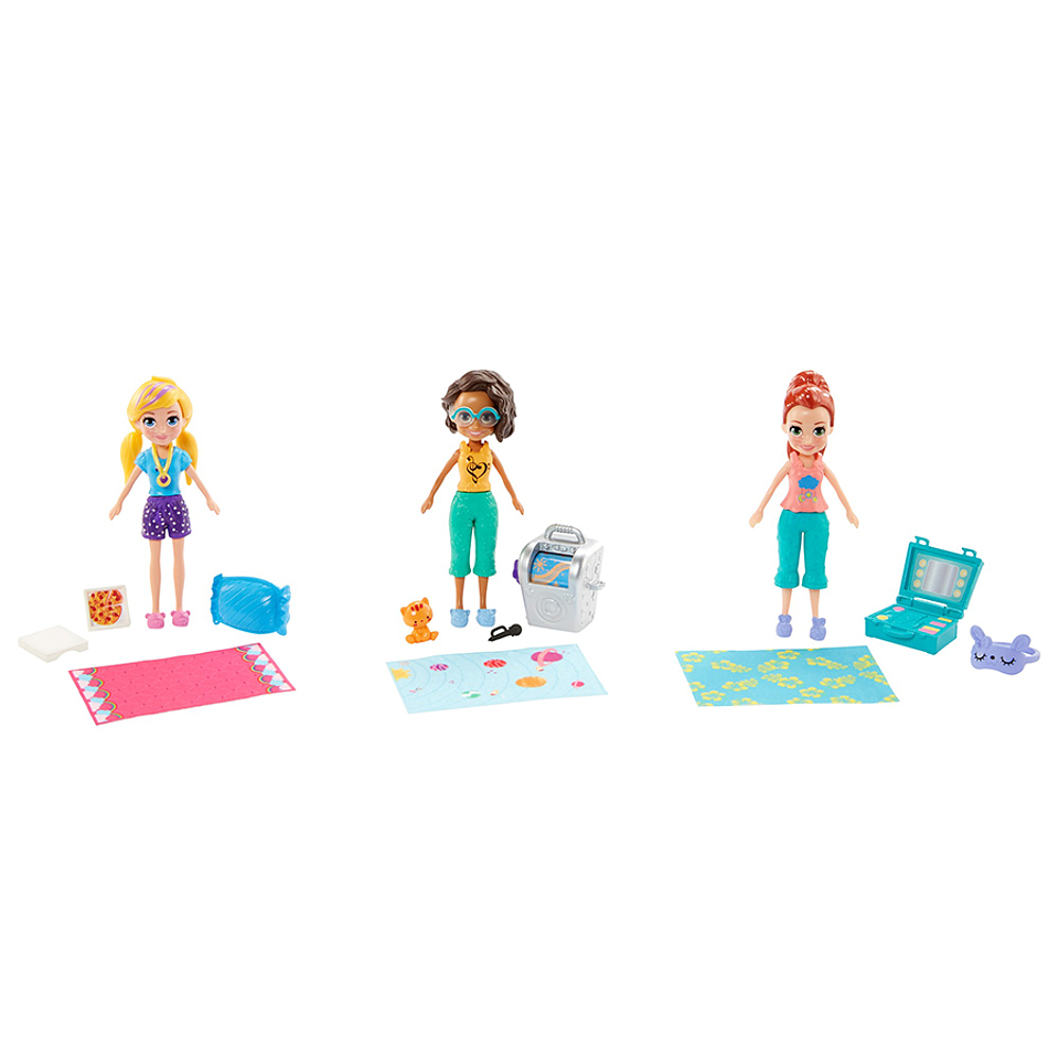 Polly Pocket Pack de 3 muñecas casa club de polly