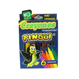 Creyones Pingüi profesionales x 6 unidades