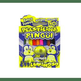 Plastilina Pingüi x 9  unidades corta