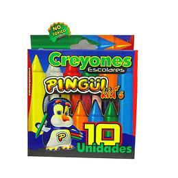 Creyones Pingüi escolares x 10 unidades