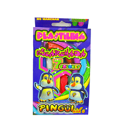 Plastilina Pingüi x 7 unidades escarchada