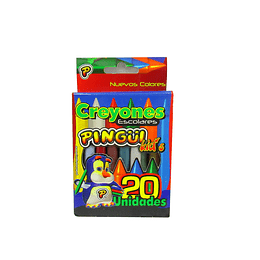 Creyones Pingüi escolares X 20 unidades