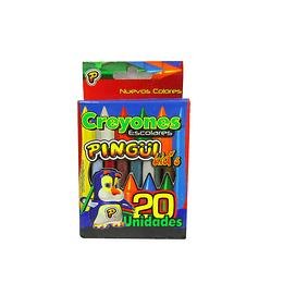 Crayones Pingüi escolares X 20 unidades