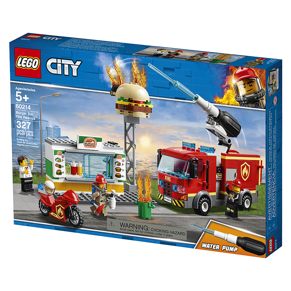 Lego City Rescate del Bar De Hamburguesas