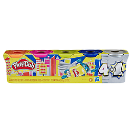 Play Doh Pack Promocional 4+1 Plata