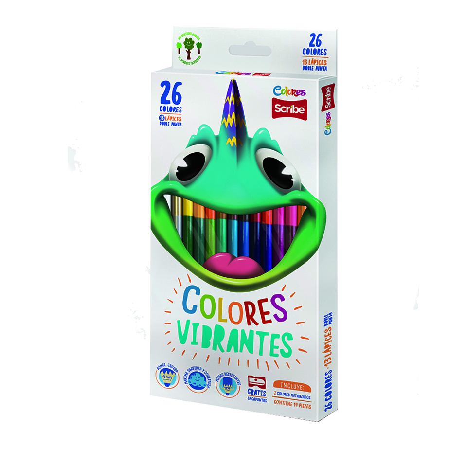 Colores doble punta Scribe x 13