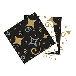 Servilleta Pequeña Felíz Cumpleaños Dorado/negro x 16 unidades