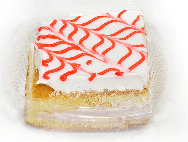 White Cake Slice Straw Fil