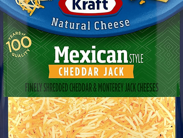 Kraft Mexican Cheddar Jack Cheese 8 oz EA