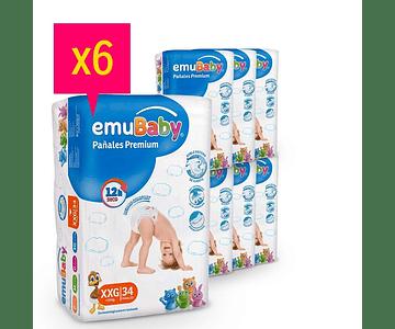Promoción Pañal Emubaby XXG 204 un