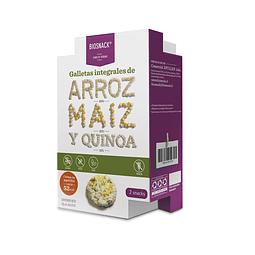 Galletas Integrales de Arroz, Maiz y Quinoa - Biosnack