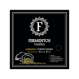 Tempeh de Garbanzos y Porotos Negros 200g - Fermentos Chile