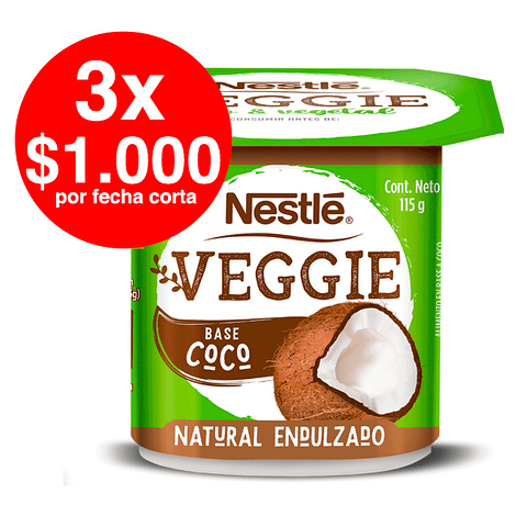 3 x $1.000 - Yogurt Veggie Coco