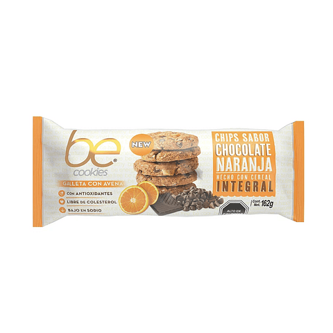 Be Cookies - Chips Sabor Chocolate Naranja