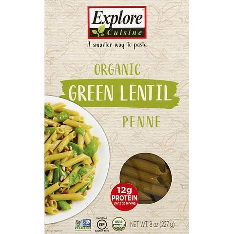 Penne Orgánico de Lentejas Verdes - Explore Cuisine