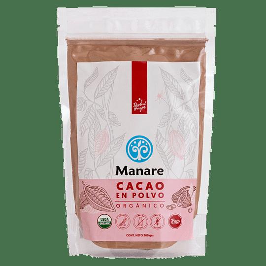 Cacao en Polvo Orgánico 200g - Manare
