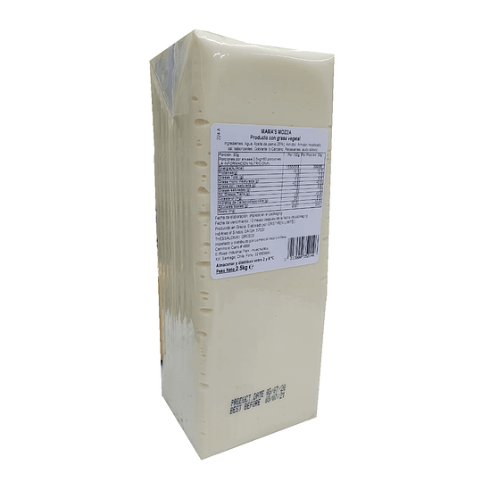Mama's Mozza - Barra 2,5kgs Queso Vegetal