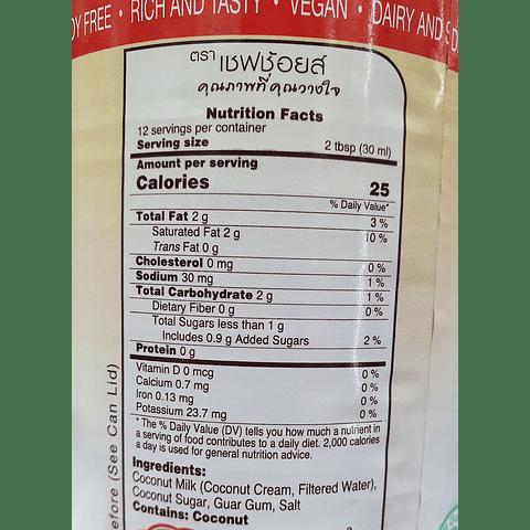 Leche Evaporada de Coco - Chef's Choice