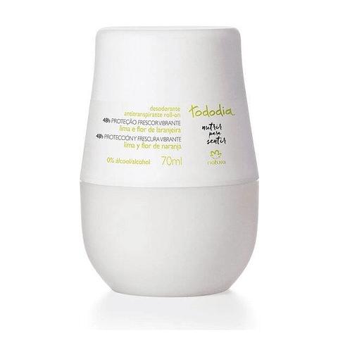 Desodorante antitranspirante roll-on femenino Lima y Flor de Naranja 70ml - Natura