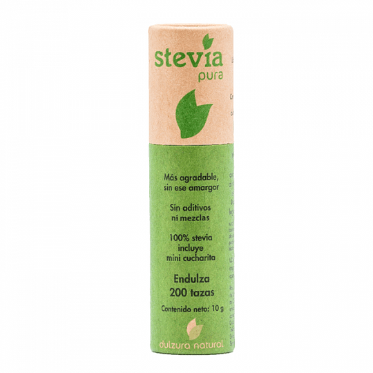 Stevia pura 100% (tubo de 10g) - Dulzura Natural