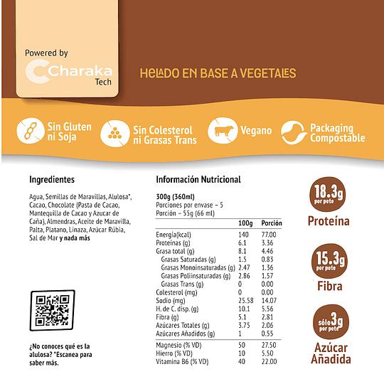 Helado Chocolate con Almendras - The Live Green Co