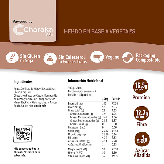 Helado Chocolate Chips - The Live Green Co
