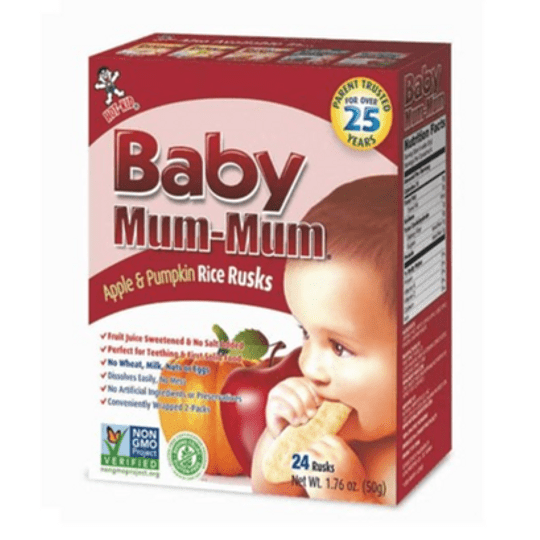 Galletas de Arroz Sabor Manzana y Calabaza - Baby Mum Mum