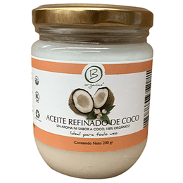 Aceite refinado de Coco 200ml - Be Organics