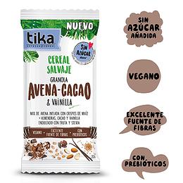Tika Cereal Salvaje Individual: Avena - Cacao & Vainilla 20g
