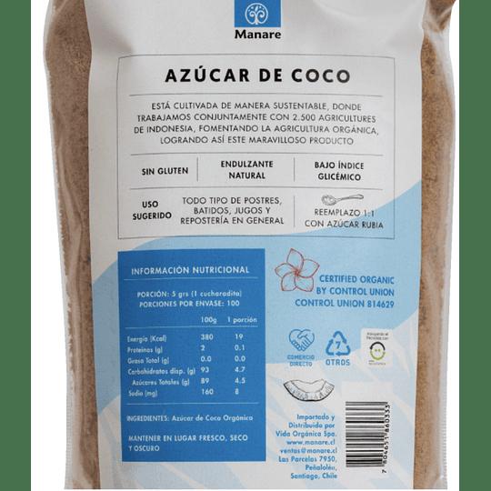 Azúcar de Coco Orgánica Manare - 500g
