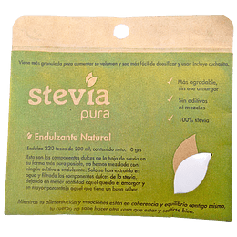 Stevia pura en Bolsa 100% (10g) - Dulzura Natural