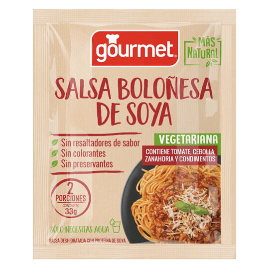 Mezcla Para Salsa Boloñesa de Soya - Gourmet