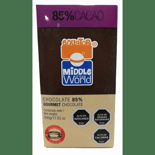 Cobertura de Chocolate en Barra, Equator 85% cacao - 500g