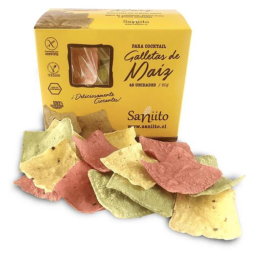 Mix Galletas de Maiz Cuadradas (60g) - Saniito