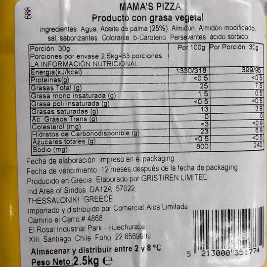 1 caja de 12,5kgs Queso Vegetal Mama's Pizza (Tipo Gouda)