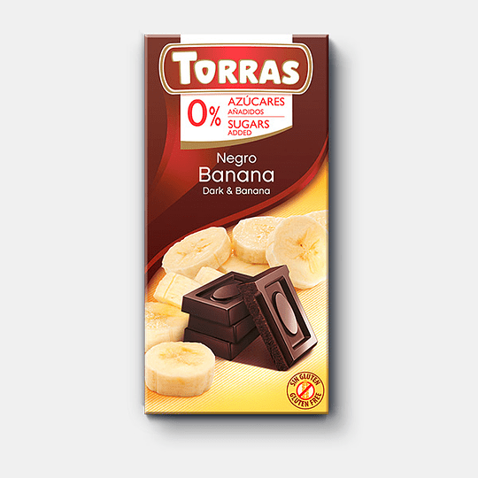 Barra de Chocolate Torras 75g - Banana