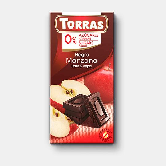 Barra de Chocolate Torras 75g - Manzana