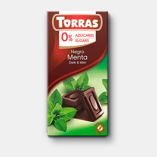 Barra de Chocolate Torras 75g - Negro Menta