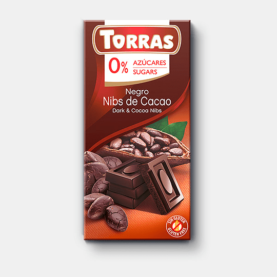 Barra de Chocolate Torras 75g - Nibs de Cacao