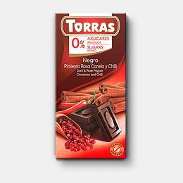 Barra de Chocolate Torras 75g - Pimienta Rosa, Canela & Chilli