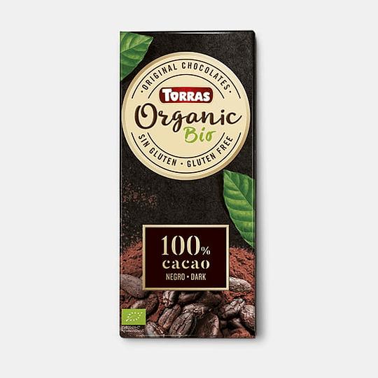 Barra de Chocolate Orgánico Torras - 100% Cacao