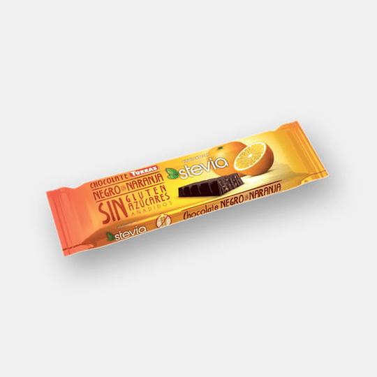Barra de Chocolate Pequeña Torras - Naranja (stevia)
