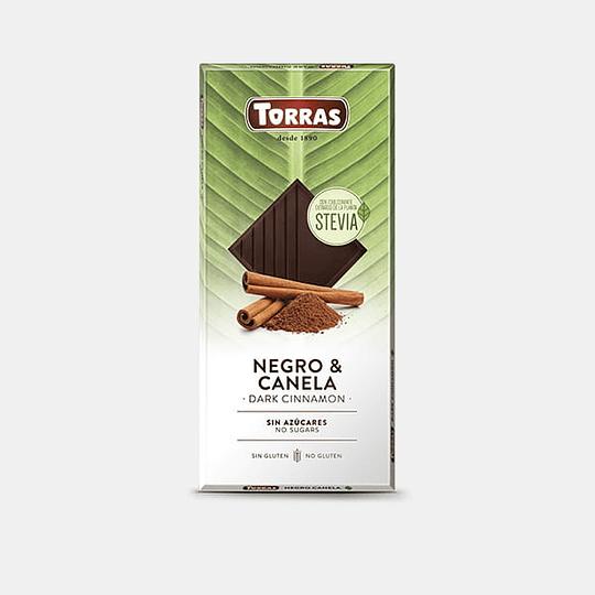 Barra de Chocolate Stevia Torras - Negro & Canela